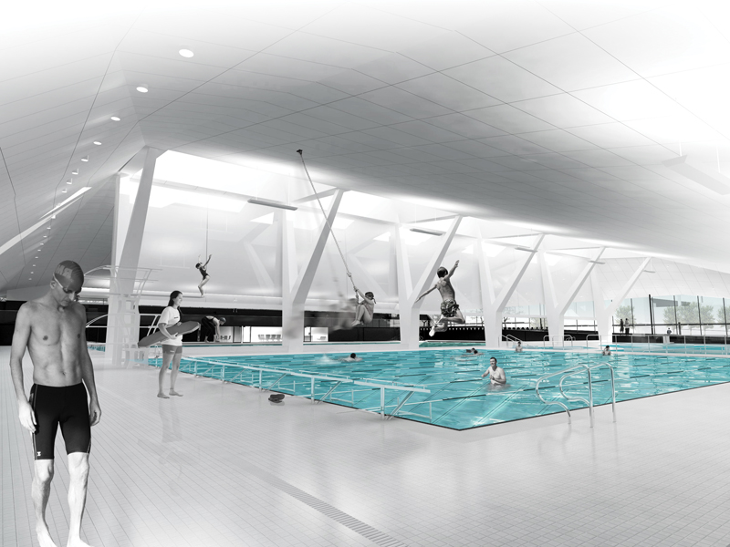 A view of the pool.