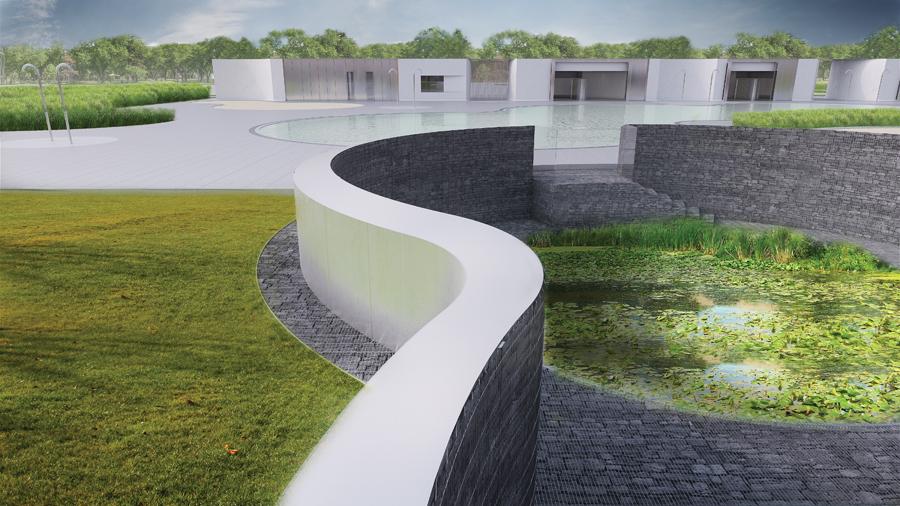 Award of excellence borden park natural swimming for Koi zone pond aquatics