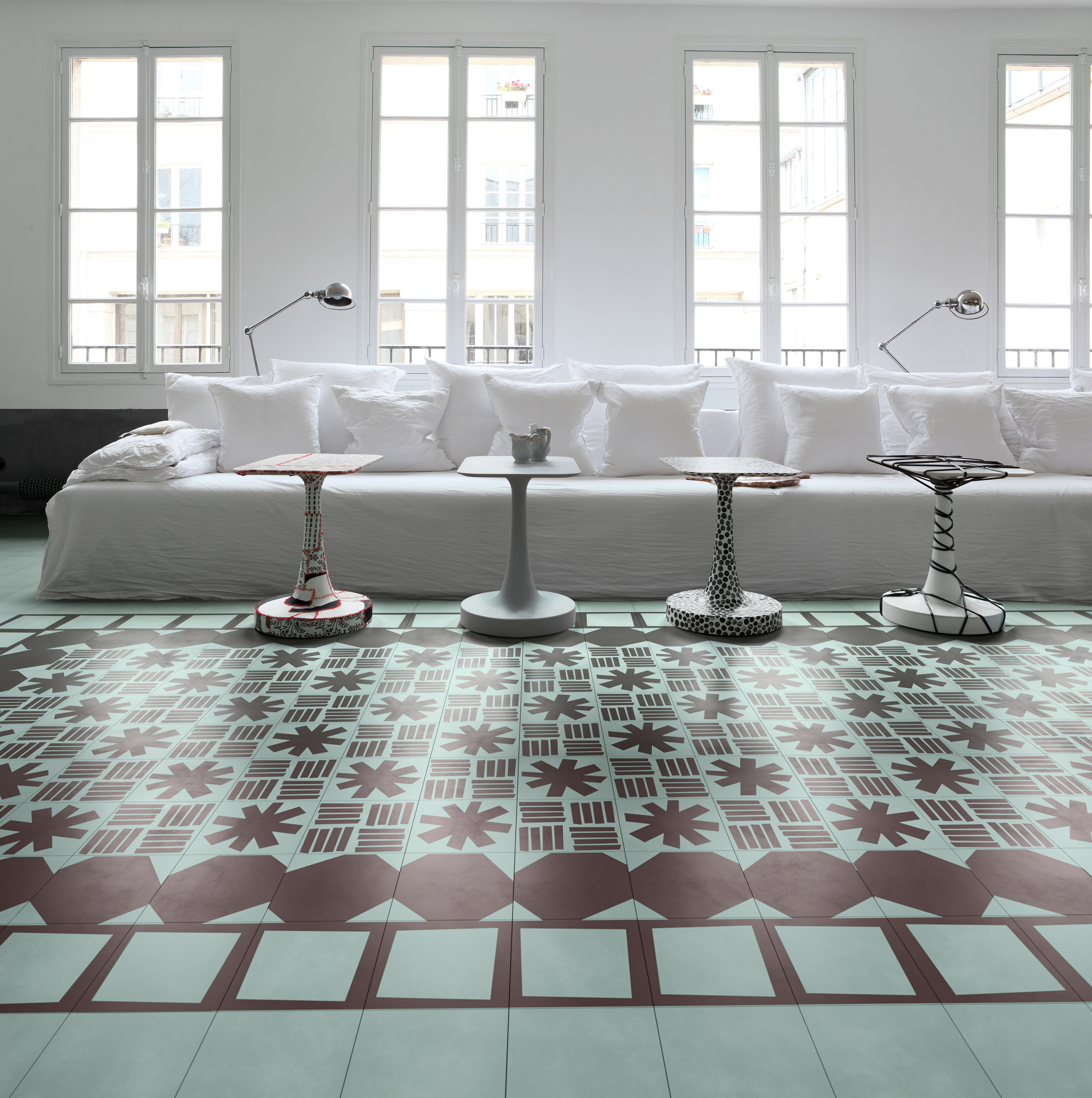Bisazza's Navone collection employs retro patterns.