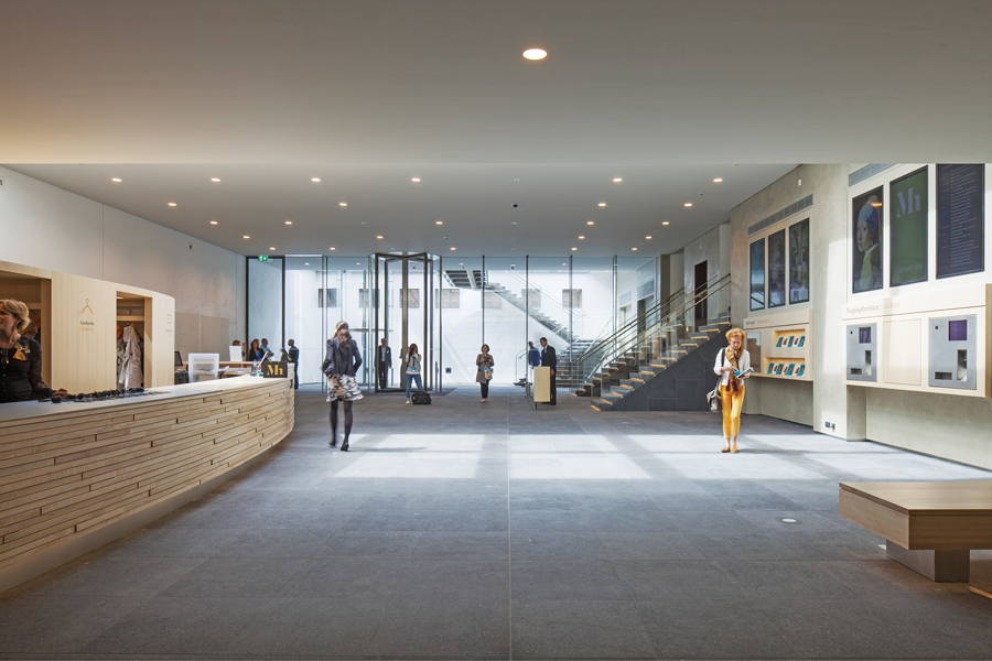 The new entrance hall to the Mauritshuis Museum.