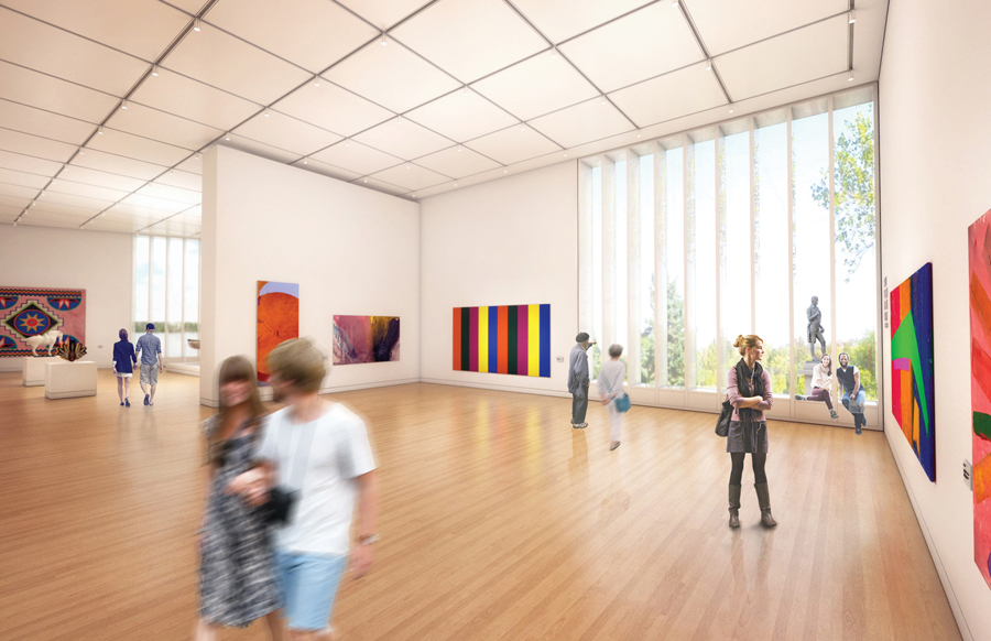 The interior of the proposed Beaverbrook Art Gallery expansion in Fredericton, New Brunswick.
