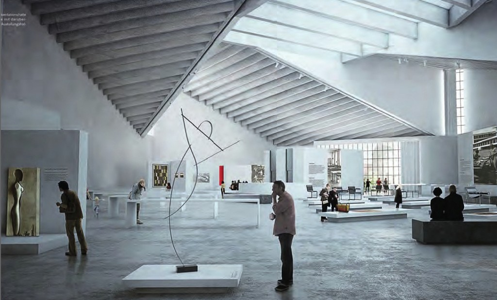Rendering of exhibition space