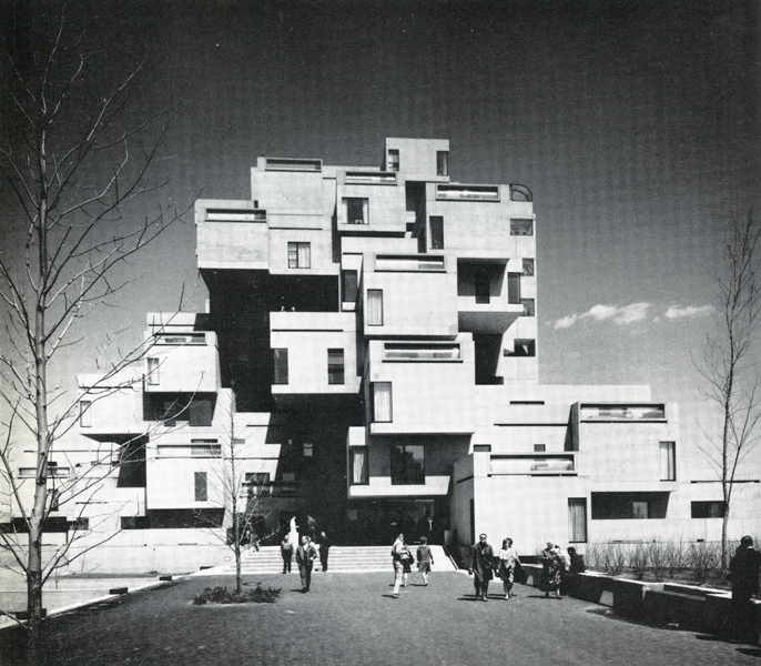 Moshe Safdie's Habitat 67 was built with David Barott Boulva Associated Architects. Reproduced from The Canadian Architect, October 1967