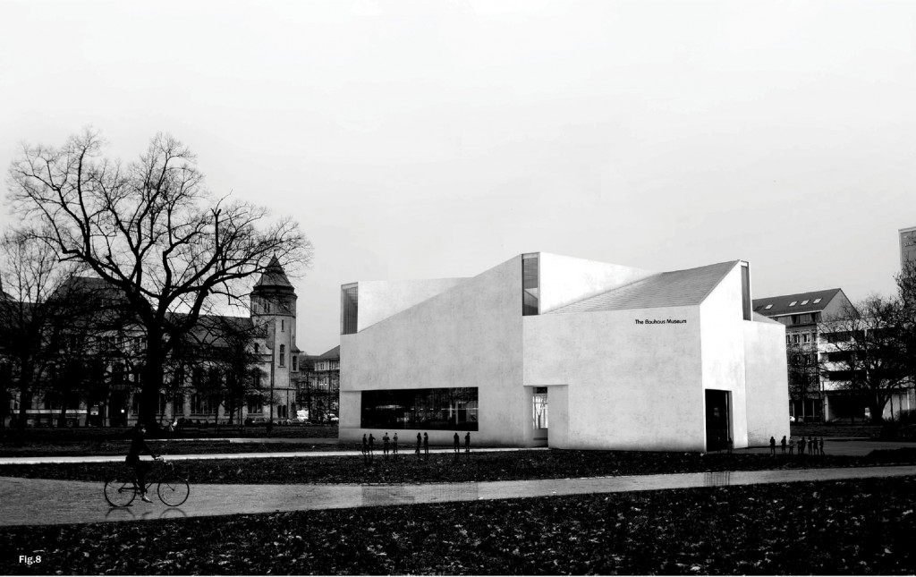 Ja Architecture Studio's fourth place winning design for the Bauhaus Museum in Dessau