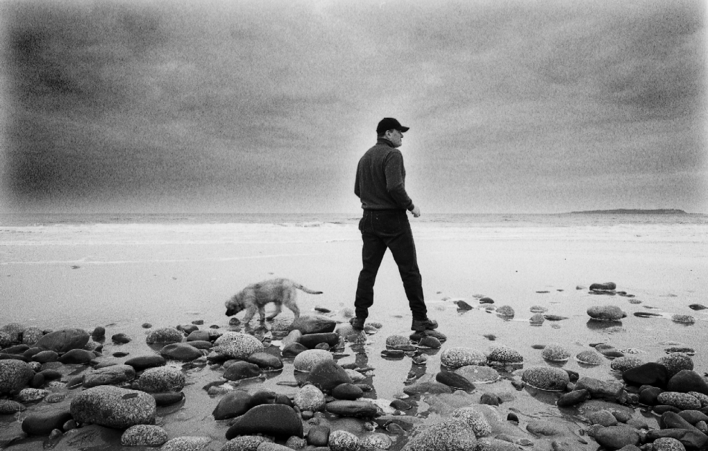 Brian MacKay-Lyons on an Atlantic coast beach