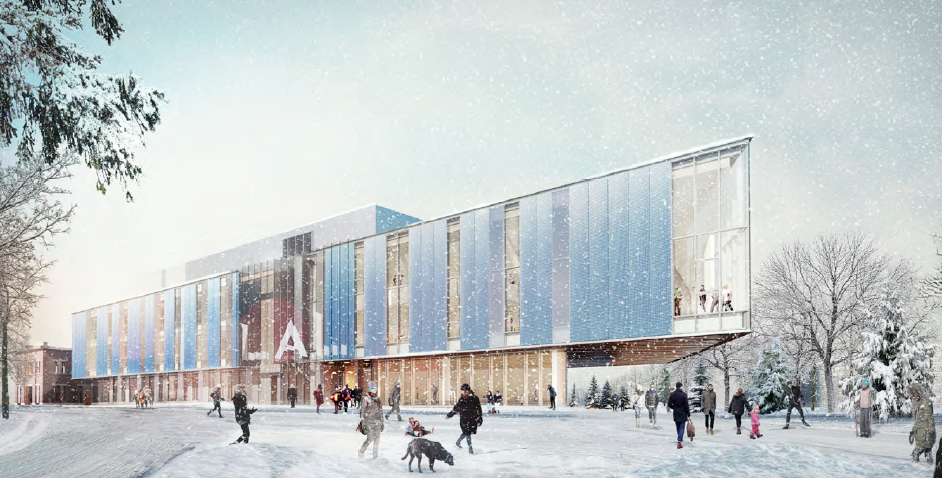 Rendering of Laurentian University School of Architecture, currently being completed by LGA Architectural Partners