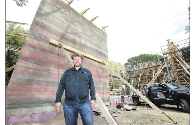 saskatoon architect paul blaser is building what he believes to be the city's first rammed-earth home.