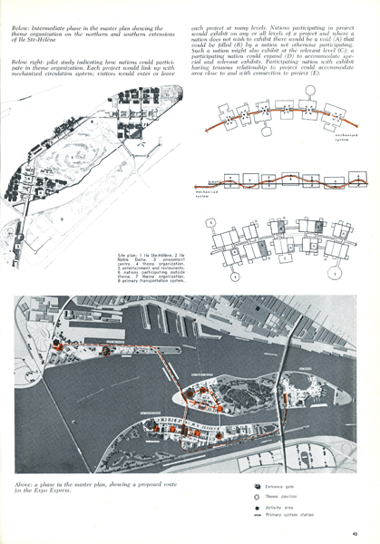 An article published during Expo 67 curiously referred to an earlier master plan for the World's Fair.