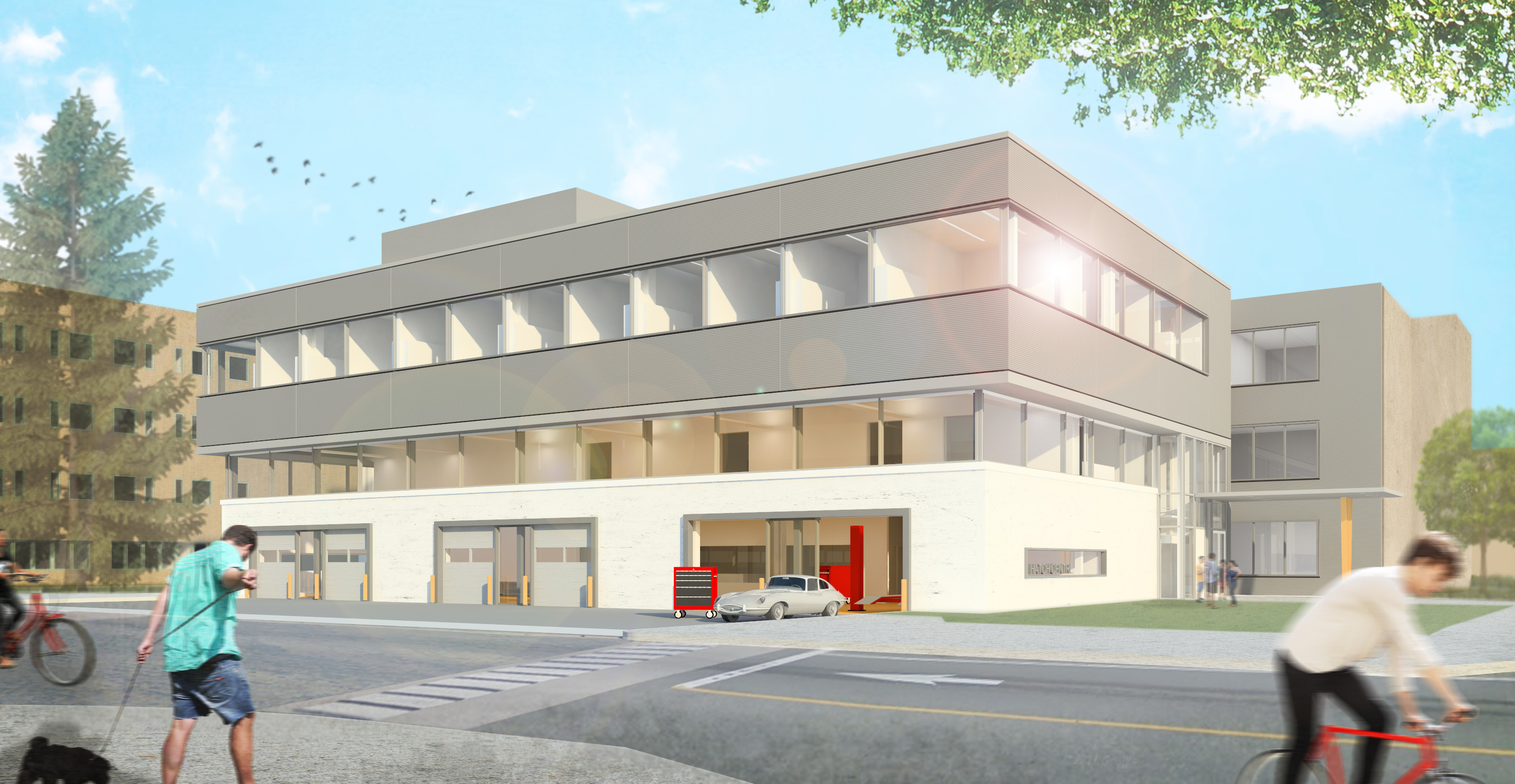 Rendering of the Gerald Hatch Centre for Engineering Experiential Learning, by Diamond Schmitt Architects