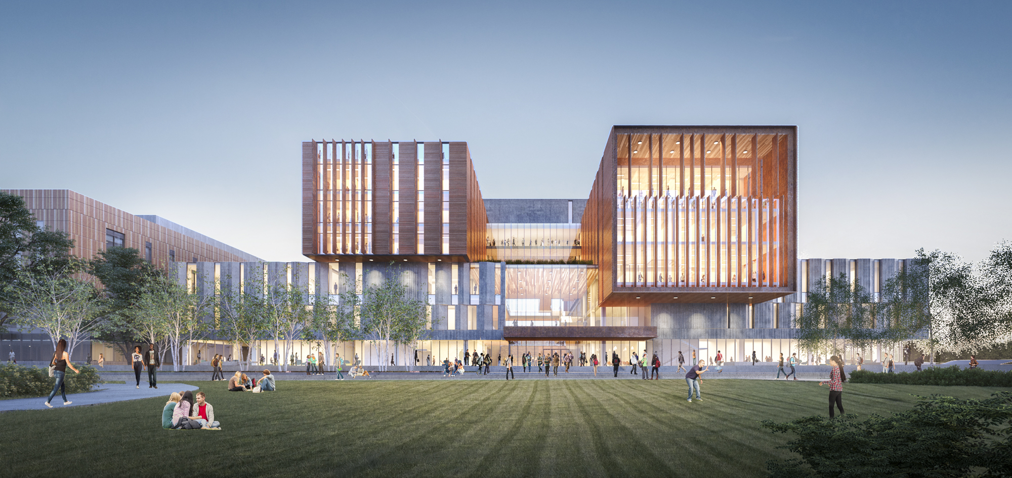 Rendering of the North Building Phase B, University of Toronto Mississauga