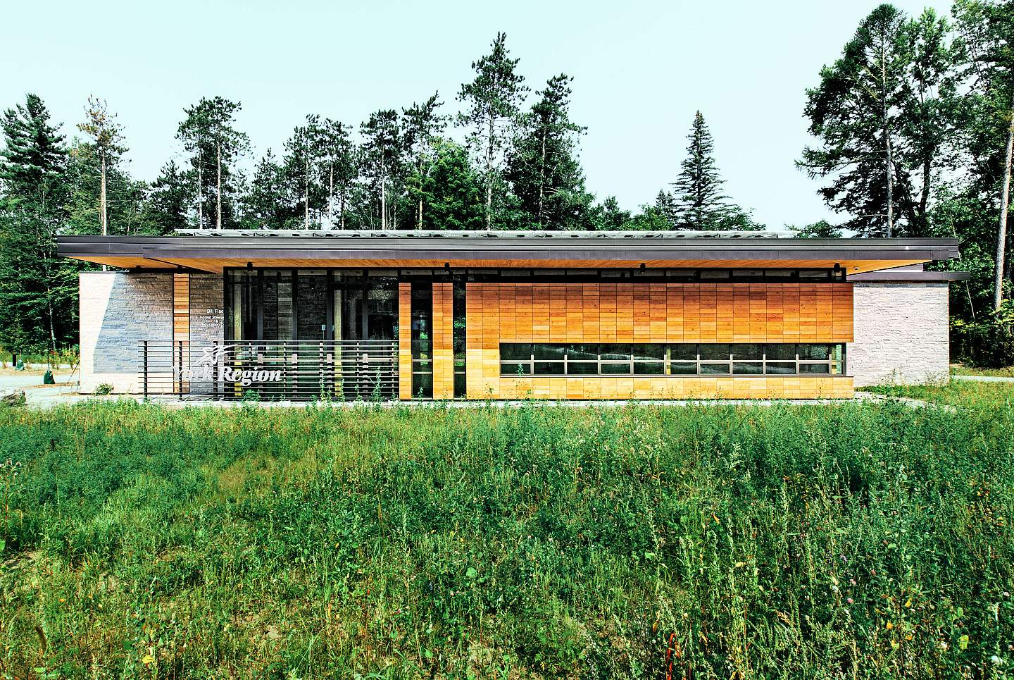 The York Region Forest Stewardship Education Centre targets LEED Platinum and Living Building Challenge standards.