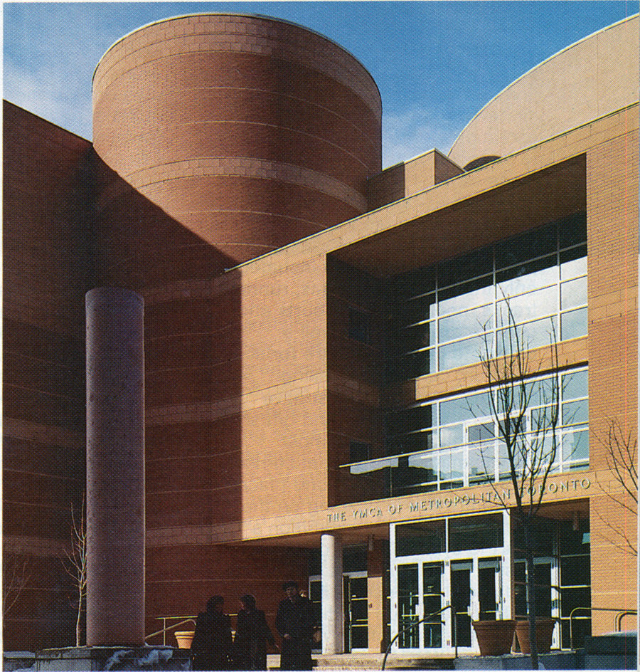The Metropolitan Central YMCA after completion. Photo by Fiona Spalding-Smith (Reprinted from The Canadian Architect, April 1985)