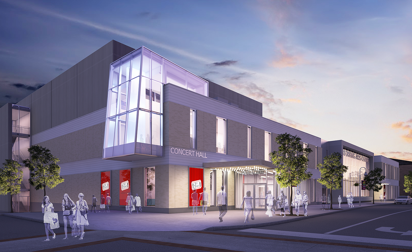 A rendering showing the newly opened FirstOntario Performing Arts Centre in downtown St. Catherines, Ontario.