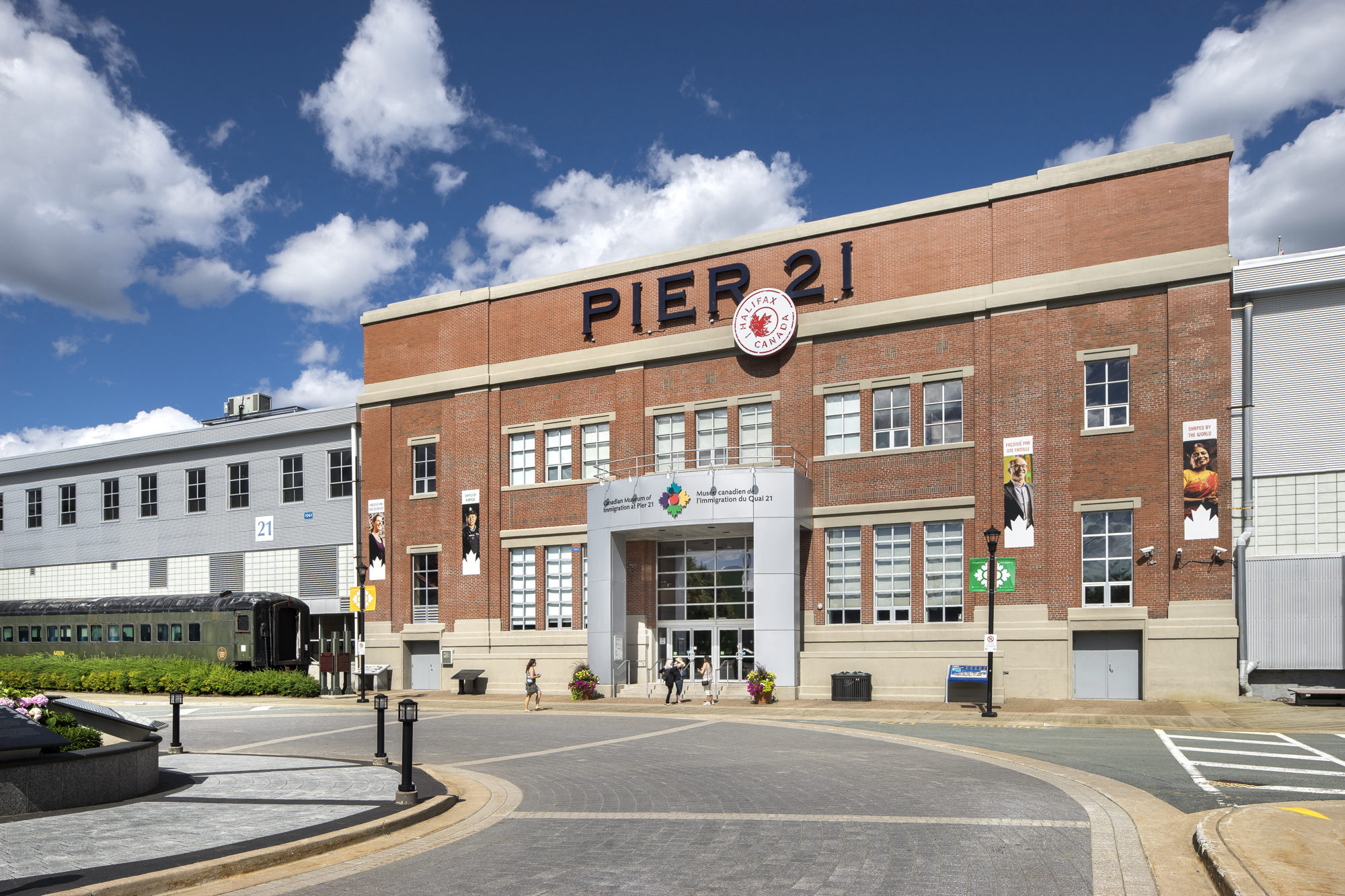 Exterior view of Pier 21. Photo by Steven Evans
