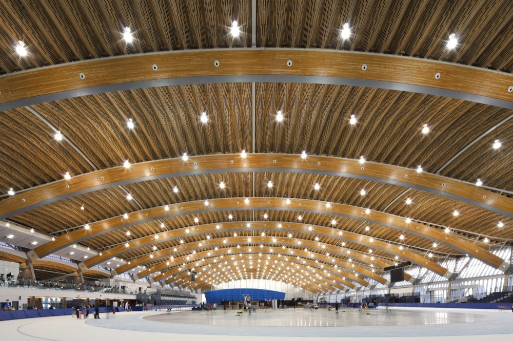 Richmond Olympic Oval by Cannon Design. Photo by Derek Lepper