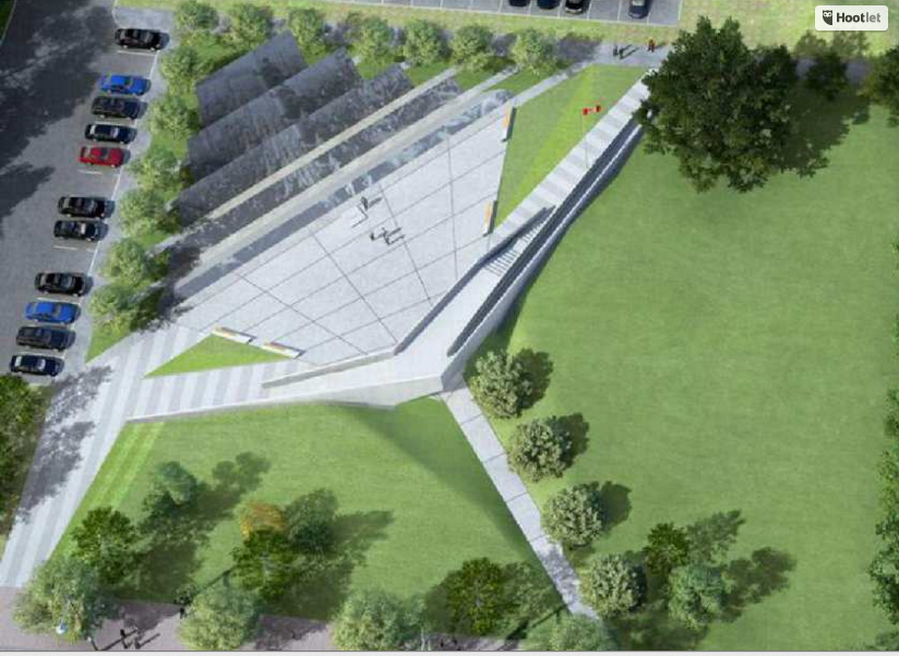 Aerial view of the proposed Memorial to the Victims of Communism