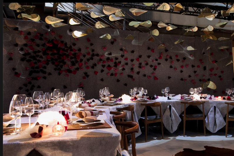 The 2015 Dinner by Design included this installation by Hariri Pontarini Architects with Kathryn Walter