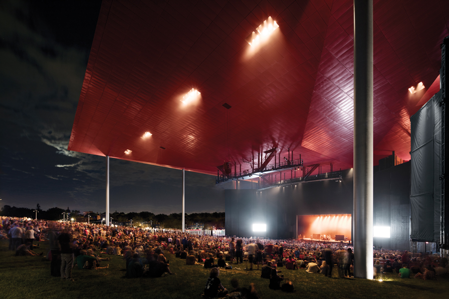 The new amphitheatre hosts a crowd of spectators during a ZZ Top concert last summer. (Photo: Adrien Williams)
