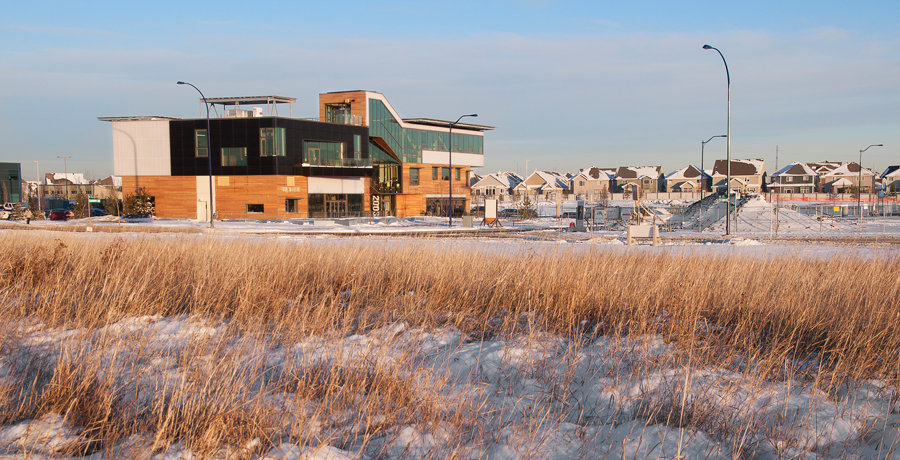The ultra-sustainable centre is located in suburban Edmonton. (Photo: Garth Crump)