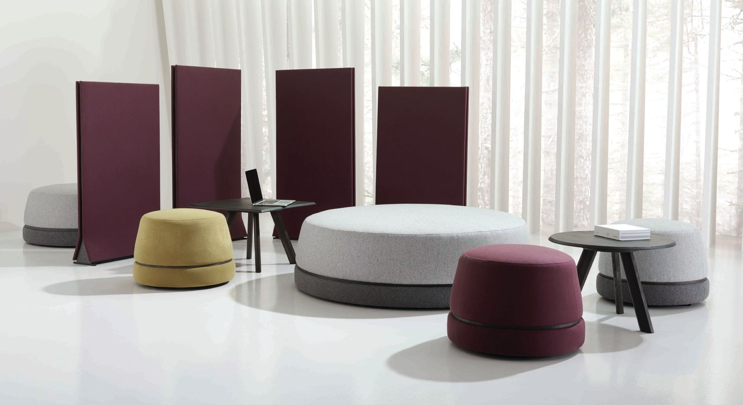 Teknion's Qui collection of furnishings