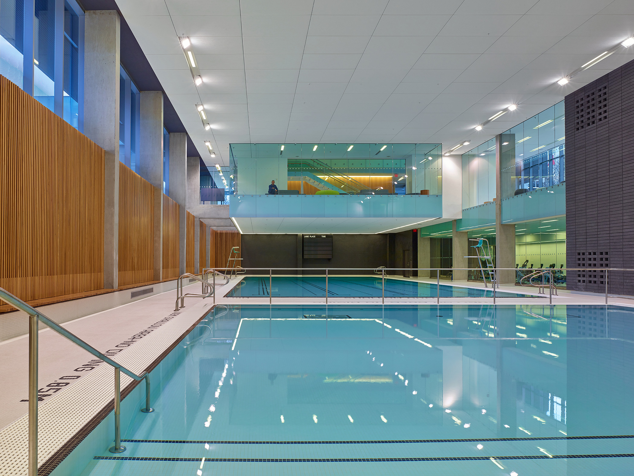 Branksome Hall Athletics & Wellness Centre Natatorium. Photo: Shai Gil