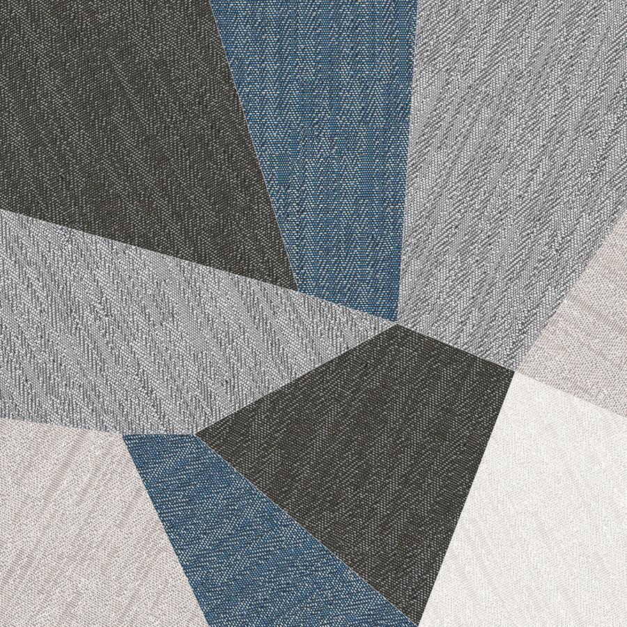 Sant'Agostino's Digitalart tiles employ the texture of herringbone fabric.