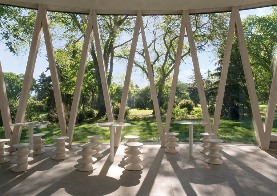 The circular pavilion recalls earlier park structures, including a carousel and a bandshell. Photo: Raymond Chow