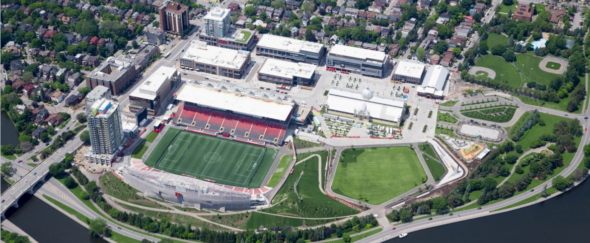 Lansdowne Park in Ottawa, by PFS Studio, won the Jury's Award of Excellence, the top prize in the CSLA recognition program.