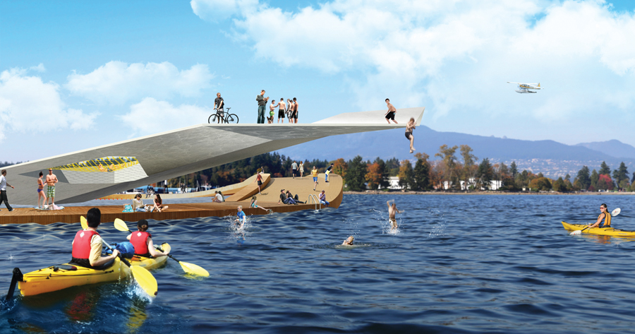 HCMA Architecture + Design's Harbour Deck presents a dynamic strategy for reconnecting Vancouverites with the water.