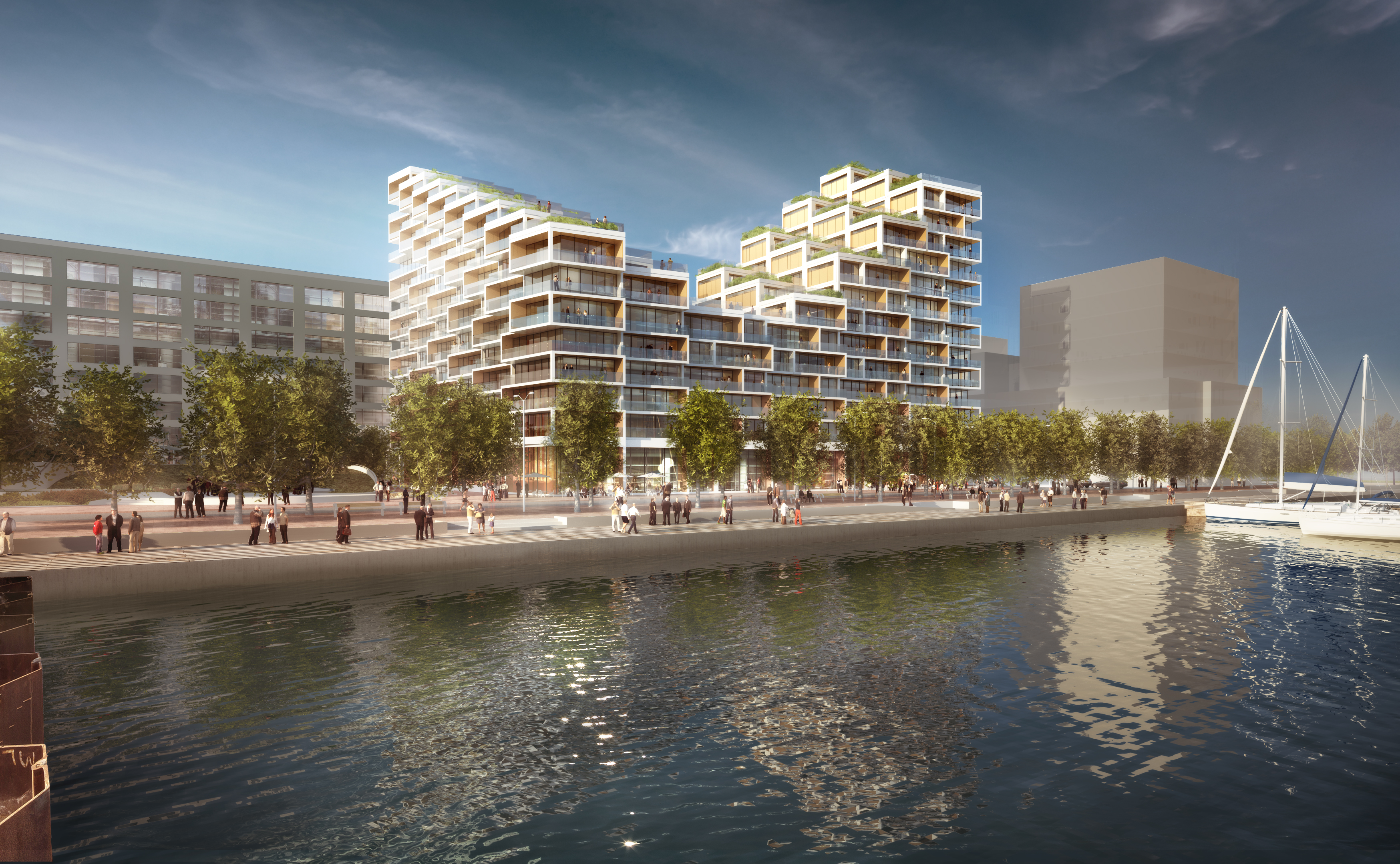 Bayside Toronto - Proposed Rendering for Phase Three. Image courtesy of 3XN/CNW Group/Tridel.