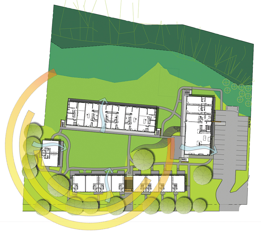 Site plan of Cohabitat in Quebec City.
