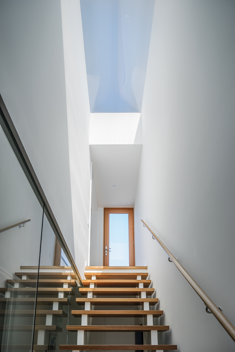 Like all of the houses in the MODERNest series, House 4 includes a skylight over the main stair.