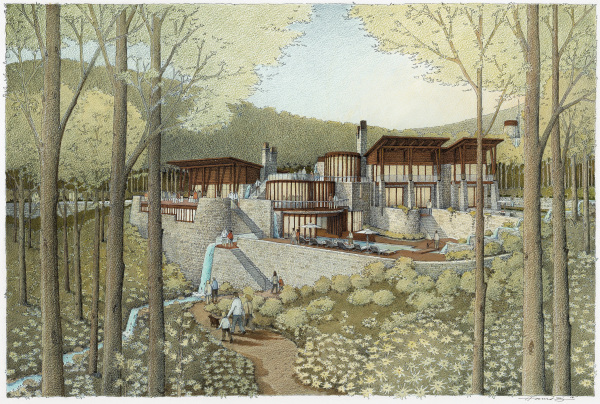 Ontario architect Howard Rideout's illustration, entitled Forest Villa, won an ASAI Award of Excellence.