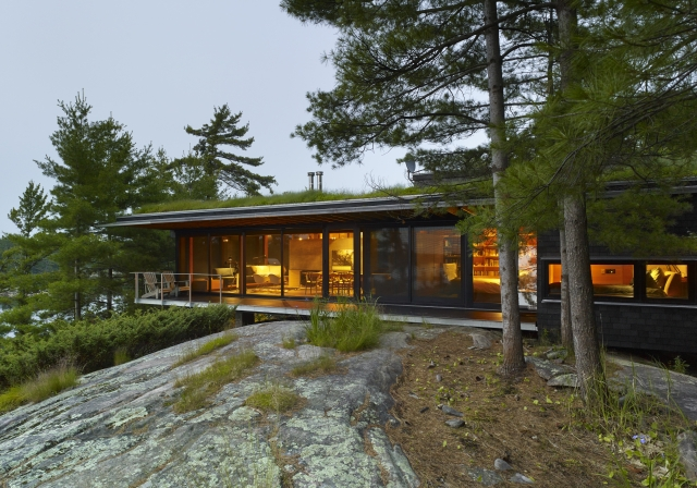 Go Home Bay in Georgian Bay, ON, by Ian MacDonald Architect Inc. is one of 10 winners of a 2016 OAA Design Excellence award. Photo by Tom Arban.