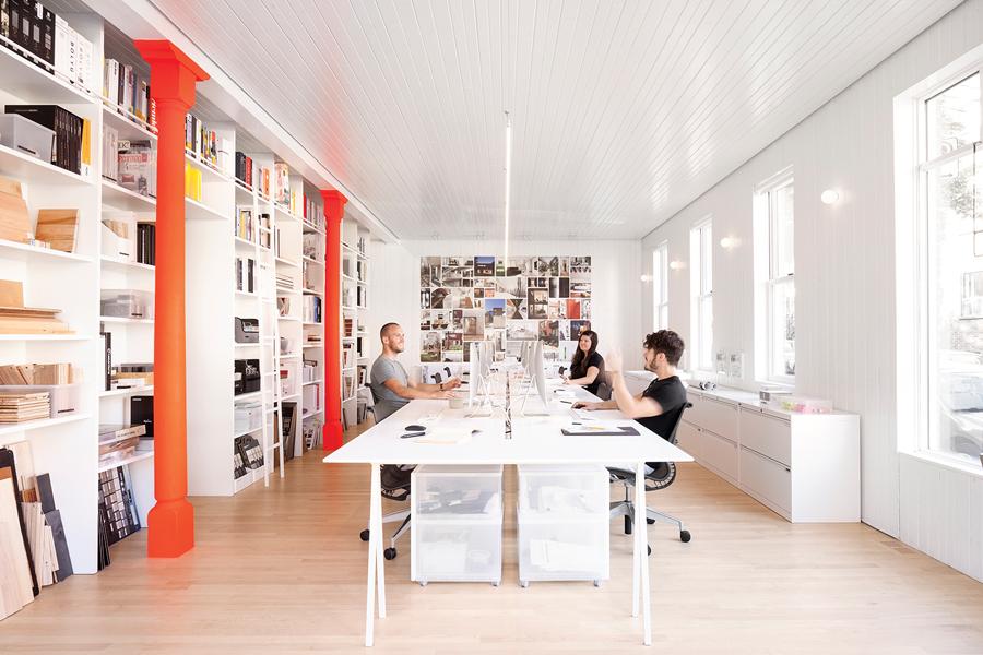 La SHED office. Photo: Maxime Brouillet. | Bureaux de la SHED. Photo: Maxime Brouillet.