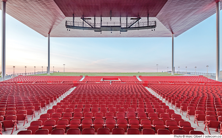 The facility includes 3,500 fixed seats.