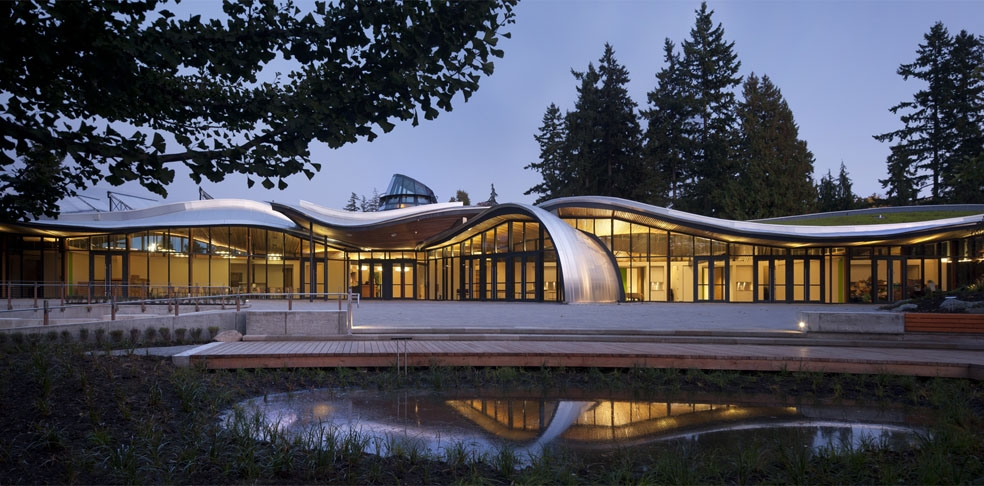 The VanDusen Botanical Garden Visitor Centre. Photo courtesy of: Perkins+Will