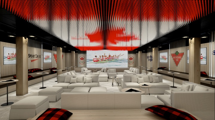 Celebration Lounge, Canada Olympic House   Credit: Canadian Olympic Committee