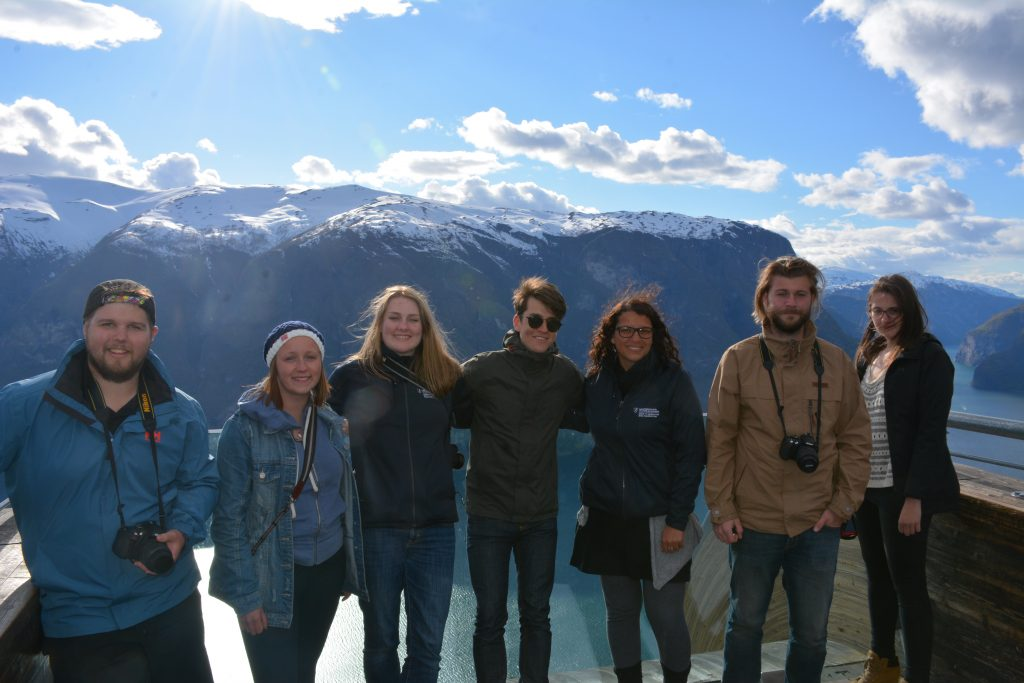 LU group at Aurland. Photo courtesy of Tammy Gaber.