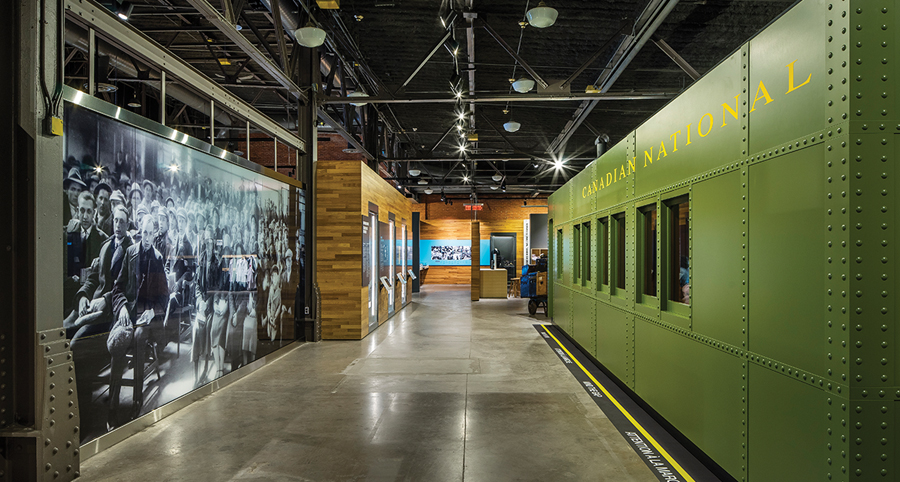 Upgraded exhibition spaces and a new event hall provide enhanced functionality for the Canadian Museum of Immigration in Halifax, completed with David J. Agro and Michael Grunsky. Photo by Steven Evans