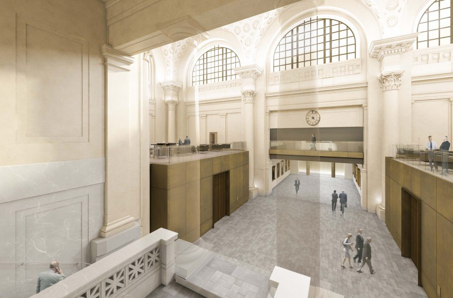The Senate Project - Concourse with new Committee Rooms. Image courtesy of Diamond Schmitt Architects