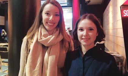 Winners Kristen Smith (left) and Marie-Pier Bourret-Lafleur (right). | Les lauréates Kristen Smith (à gauche) et Marie-Pier Bourret-Lafleur (à droite).