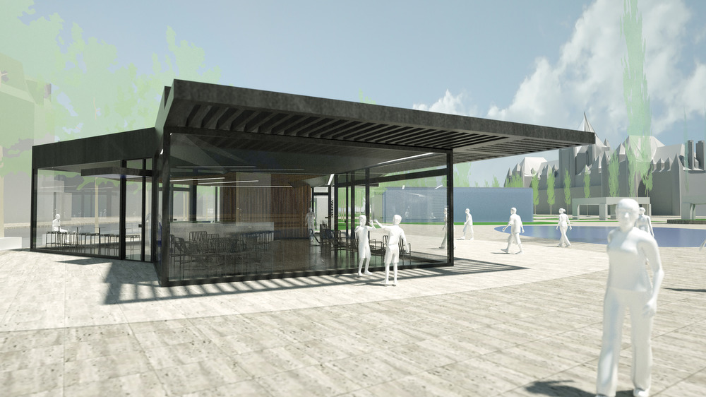 Conceptual rendering of service building. (Daudelin block). Photo credit: PROVENCHER_ROY