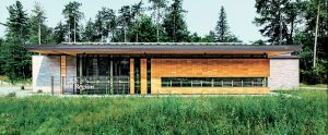 The Bill Fisch Forest Stewardship and Education Centre by DIALOG generates more energy than it consumes. Photo by Cindy Blazevic