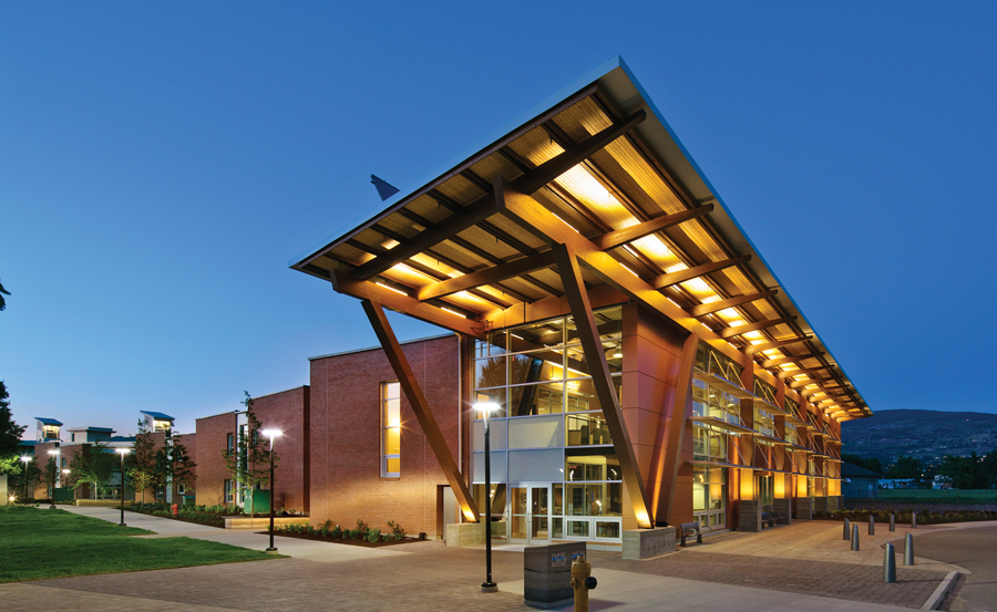 HDR's Jim Pattison Centre at Okanagan College targets net zero energy. Photo by Ed White Photographics