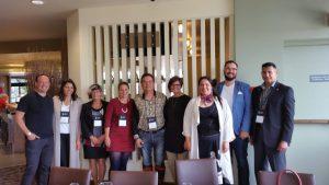 RAIC Indigenous Task Force. Left to right: Alfred Waugh, MRAIC, Wanda Dalla Costa, Harriett Burdett-Moulton, FRAIC, Rachelle Lemieux, MRAIC, Patrick Stewart, MRAIC, Ouri Scott, MRAIC, Eladia Smoke, MRAIC, Jason Surkan, Ray Gos-selin, MRAIC.