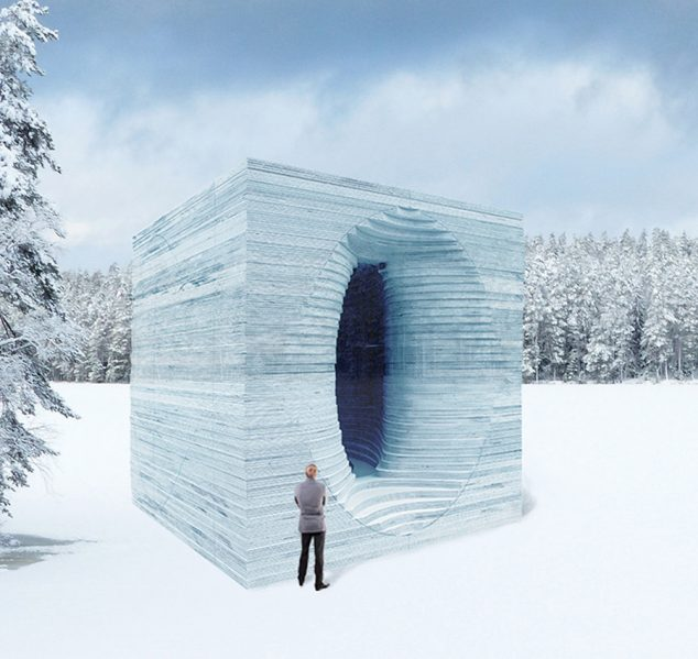 Anish Kapoor's Stackhouse will invite visitors to enter a womb-like structure built of ice layers. Courtesy The Forks