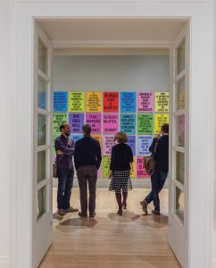 Douglas Coupland's Slogans for the Twenty-First Century is displayed as part of the exhibition. Photo: CCA Montreal