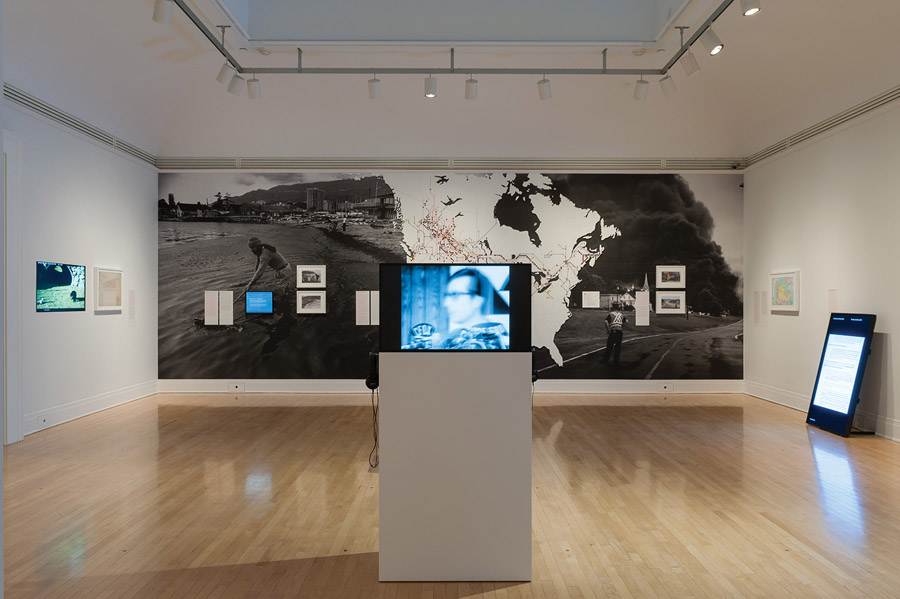 The politics of oil pipelines are highlighted in one of the galleries. Photo: CCA Montreal