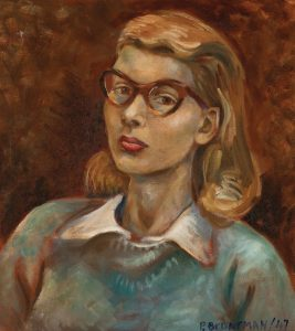Phyllis Lambert's self-portrait in oil on canvas from 1947. Photo: Phyllis Lambert Fond, CCA © Phyllis Lambert.